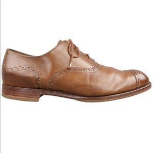BARKER BLACK Clifton Cap Oxfords Toe Size 12.5